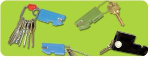 Open Morse Key Ring